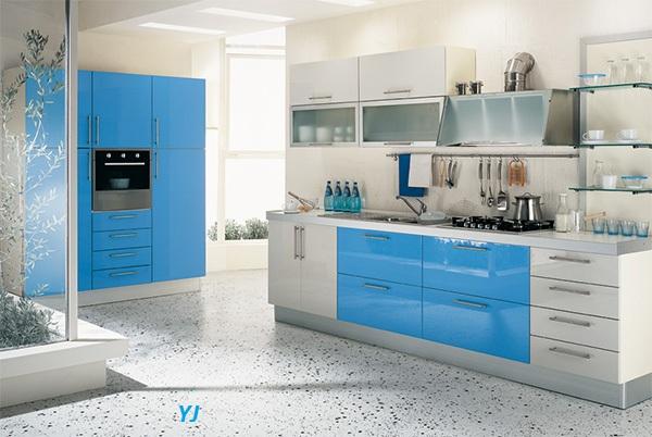Moje milovane farby v interieri- modra, biela, - HI-Macs