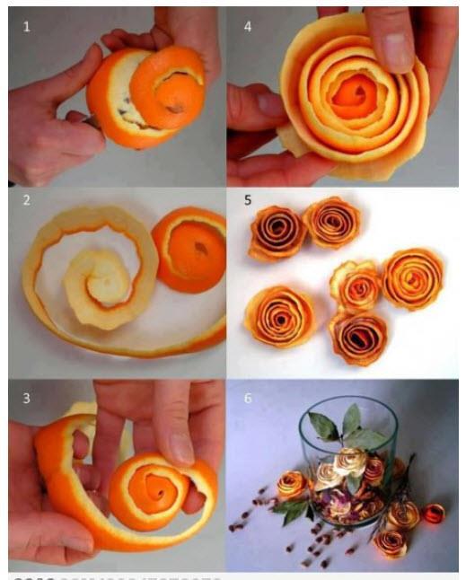 Návody-návodíky - ako urobiť ružu z pomaranča