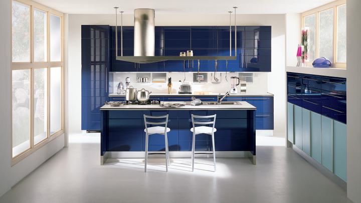 Moje milovane farby v interieri- modra, biela, - Scavolini