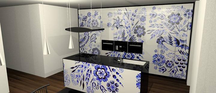 Moje milovane farby v interieri- modra, biela, - tak tato je uz uplne dokonala slovenska kuchyna