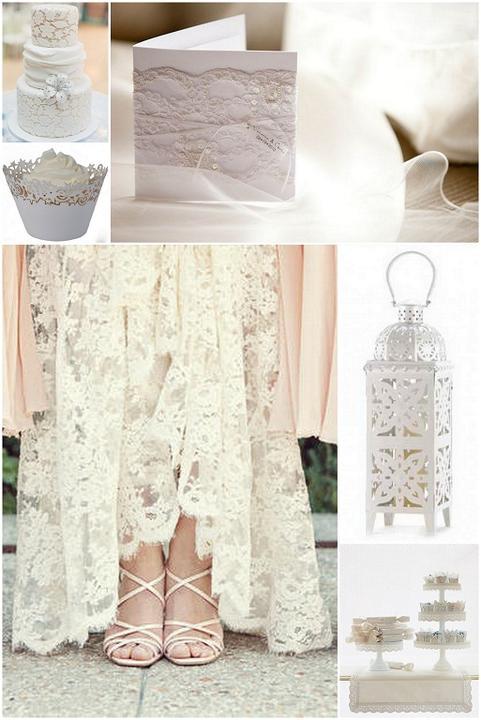 Lace Wedding Decorations & Details - Obrázok č. 11