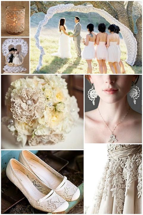 Lace Wedding Decorations & Details - Obrázok č. 26