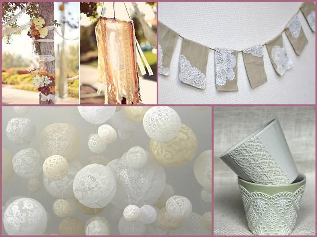 Lace Wedding Decorations & Details - Obrázok č. 42