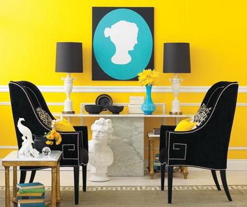 yellow room interior inspiration