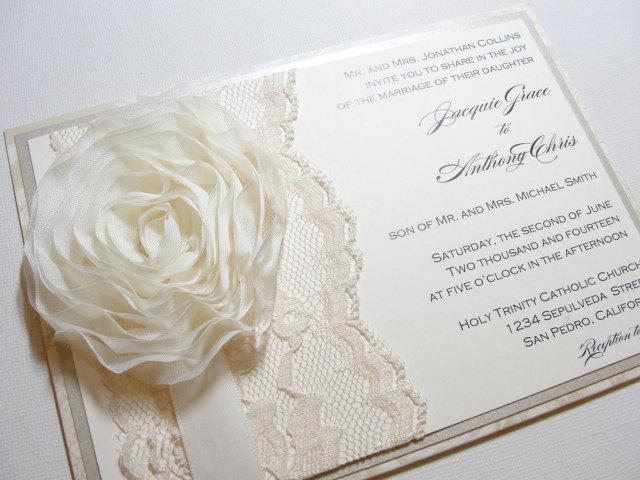 Lace Wedding Decorations & Details - Obrázok č. 82