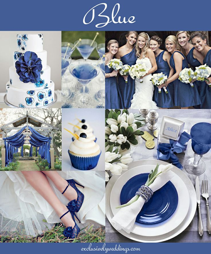 ♛ ♛ ♛ royal blue wedding inspiration - Obrázok č. 30
