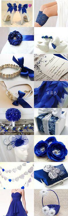 ♛ ♛ ♛ royal blue wedding inspiration - Obrázok č. 35