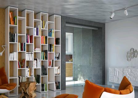 Obývací pokoj se čtecím a kinokoutkem - Dveře