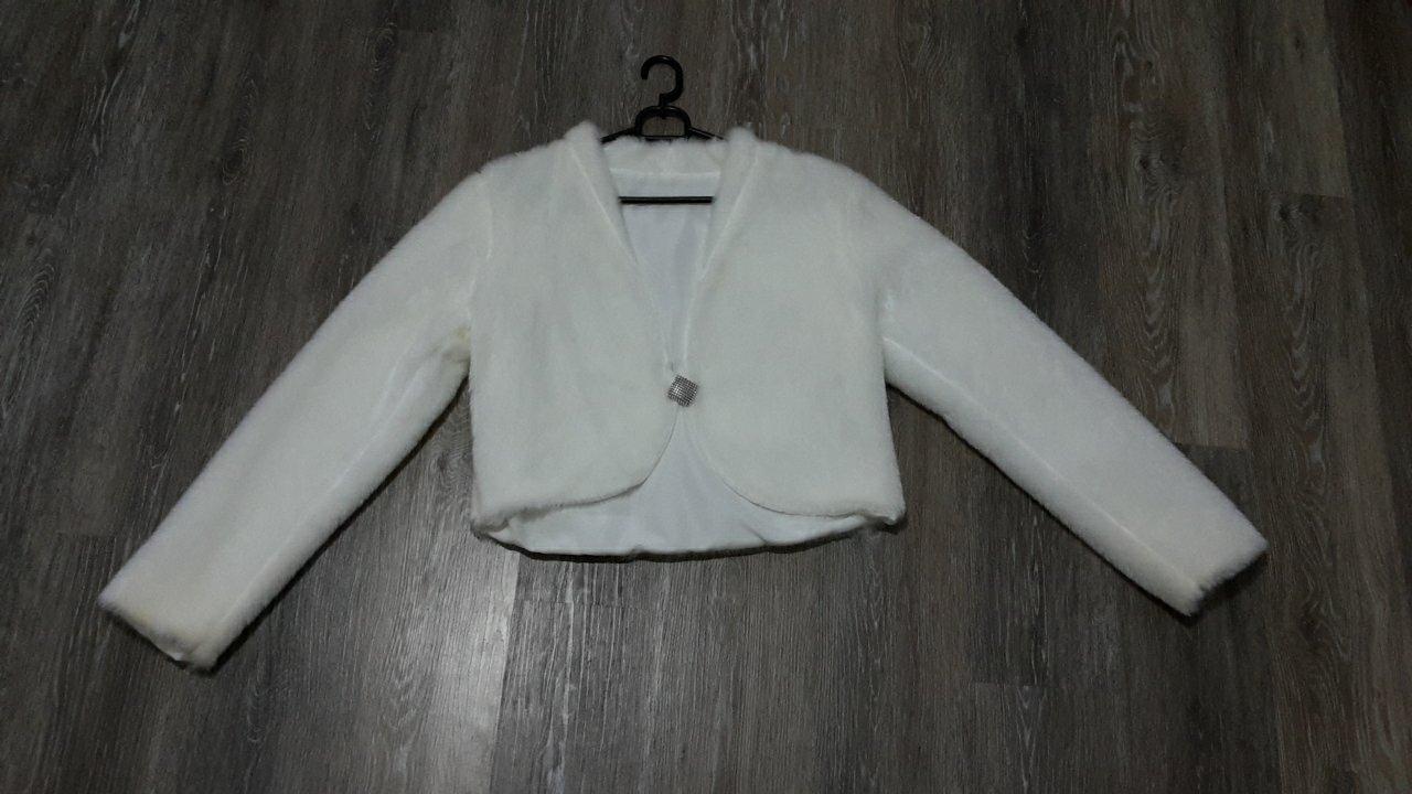 Biely kozustek, kabátik - Obrázok č. 1