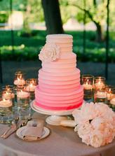 Dark to light wedding cake