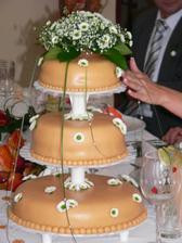 marcipánový svatební dort