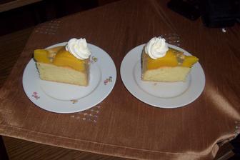 Broskvový dortík