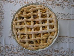 Linecký koláč s flambovanými jablky