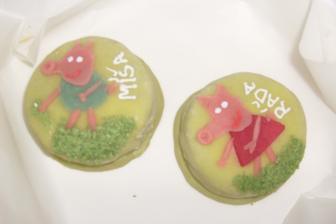 marcipánové dortíky pro kamarády :-)