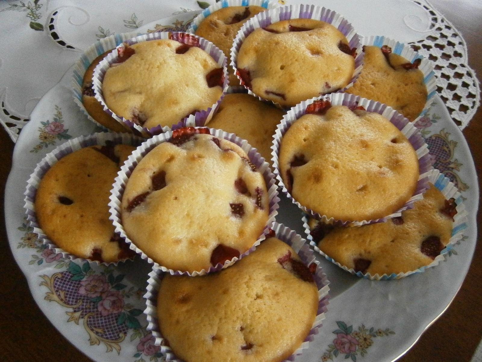 Hokus pokus v kuchyni - jahodové muffiny