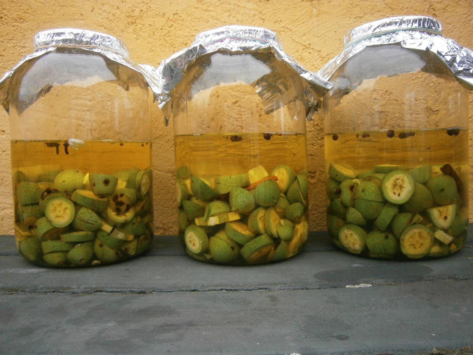 Hokus pokus v kuchyni - na sv. Jana jsem nasbírala ořechy a naložila je do čtyř litrů slivovice