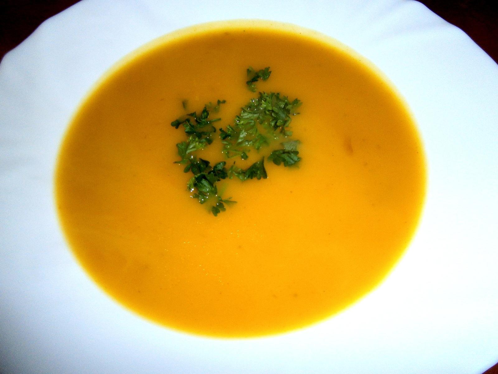Hokus pokus v kuchyni - krémová polévka z dýně Hokaido