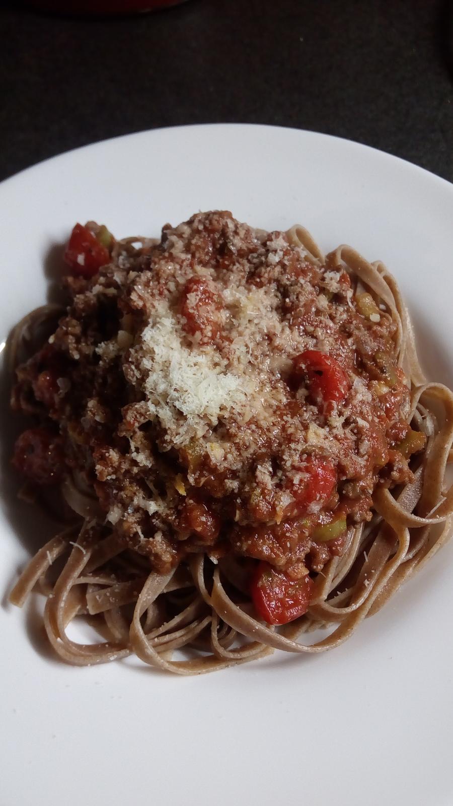 Hokus pokus v kuchyni - Boloňské špagety nebo spíš tagliatelle ;-)