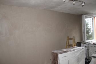 po strope šla najdlhšia stena.. ako som sa tešila že to už vypadá nádejne..