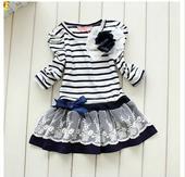 Proužkované šaty - 2 barvy, 140