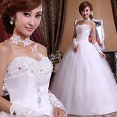 Svatební šaty, princezna styl, 42