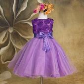 Slavnostní šaty - pro družičku - fialové, 98