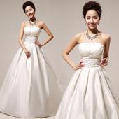 Svatební šaty - princeznovský styl - jednoduché, 36