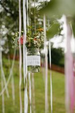 vázičky na svatebním stromu:)