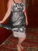 čierno-biele elegantné krátke šatky, 42