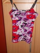 letné tričko fialovej farby, S
