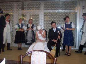 prislub ženícha a sňatie pierka