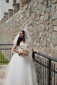 Svadobné šaty  + závoj + brošňa do vlasov  v cene , 38