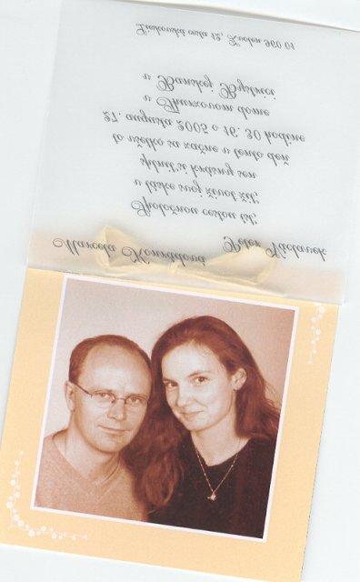Svadba 27. augusta 2005 sa blíži! - z vnútra