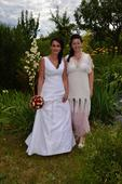 svatební šaty velikost 38 - 40, 38