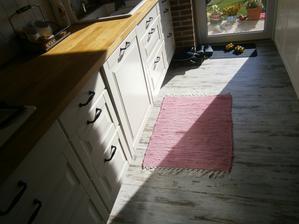 dnešní slunečné ránko v kuchyni