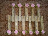 Štipčeky s ružičkami 15 ks,