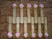 Štipčeky s ružičkami,