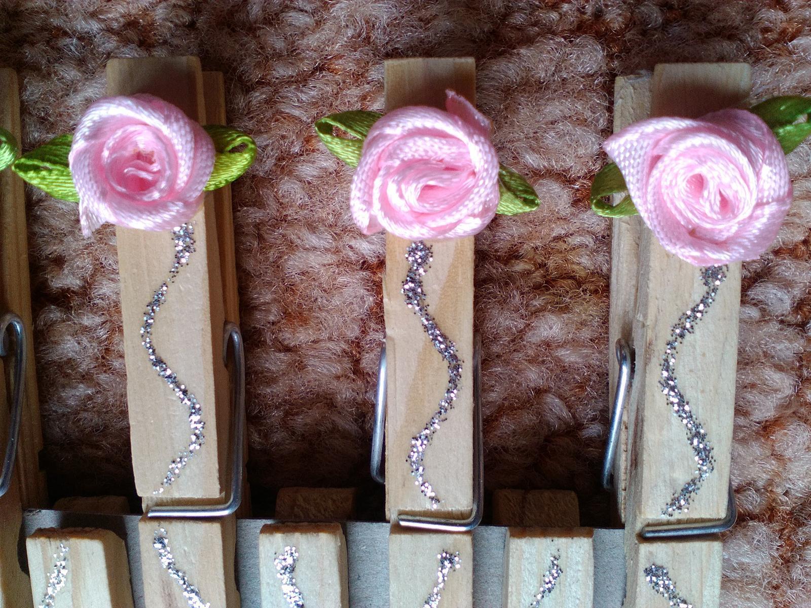 Štipčeky s ružičkami - Obrázok č. 2
