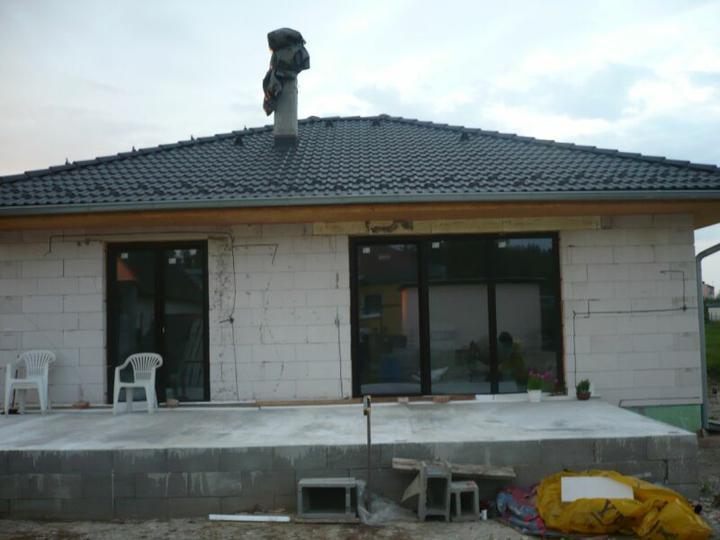 Stavba nášho domu - Terasa ...