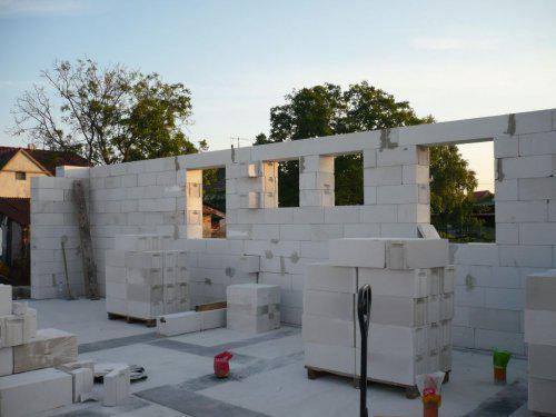 Stavba nášho domu - bocna stena