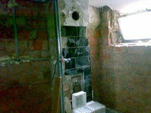 původní koupelna, tam je nyní sklep
