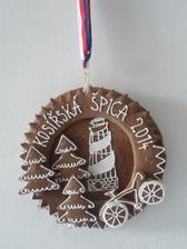 Perníková medaile na závod horských kol.Snad se bude líbit.