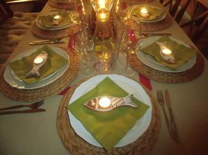 Naše slavnostní stolování