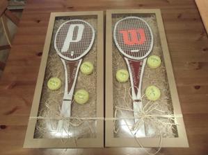 Perníkový dárek pro vášnivé tenisty