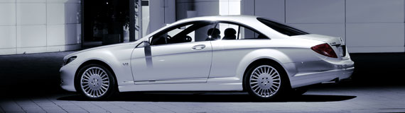 Náš veľký deň 19.9.2009 - tak toto bude naše svadobné autíčko Mercedes CL