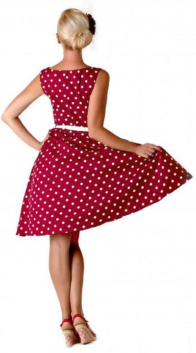 0b4a0fa7b8f Novinka! Klasické červené retro šaty Audrey  -) - LindyBop šaty ...