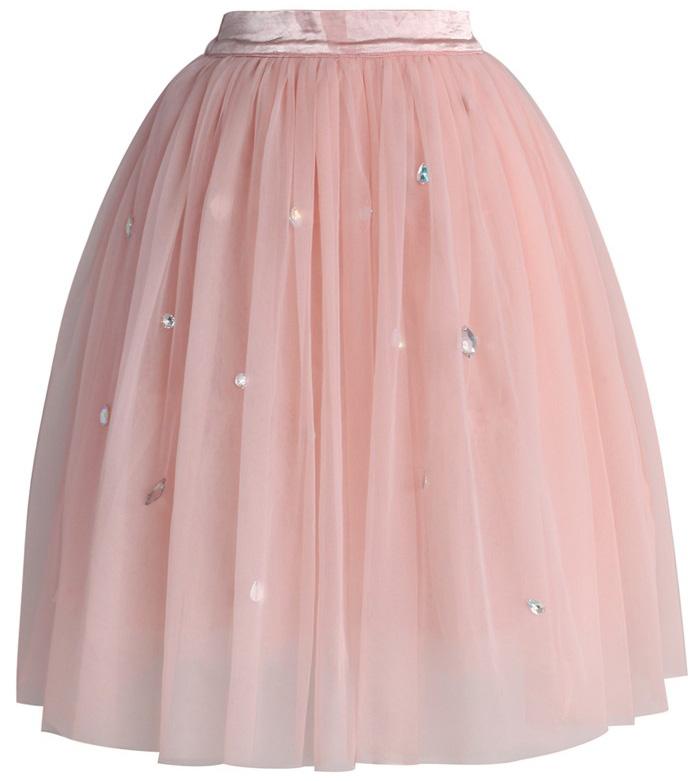 Výprodej! - Chicwish TUTU sukně Diamonds, růžová