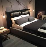 elegantná čalúnená posteľ