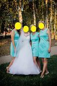 Originální mentolové šaty pro tři družičky včetně , M