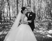 Svadobné šaty s dlhým závojom, 36